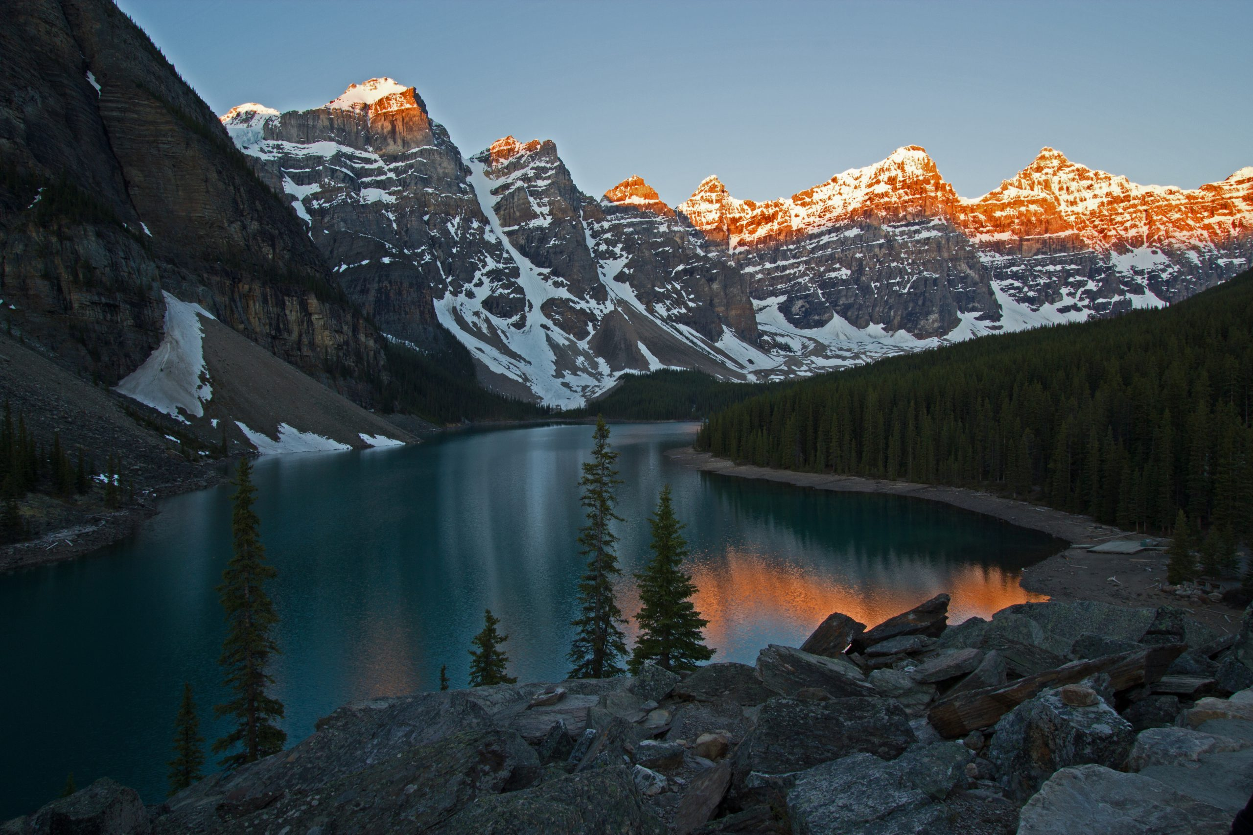 This Spectacular Lake is near Lake Louise, Alberta Canada.  It is also a Glacier fed lake.
