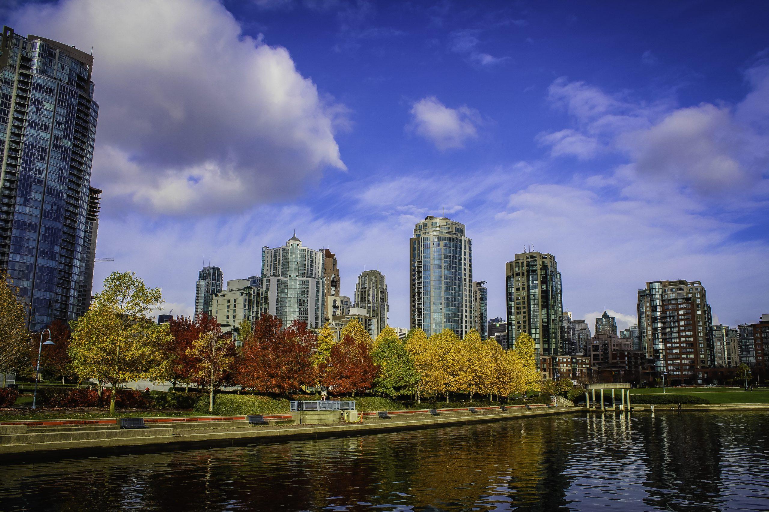 Fall in False Creek, Vancouver was taken along Vancouver, B.C.'s famous seawall walk.